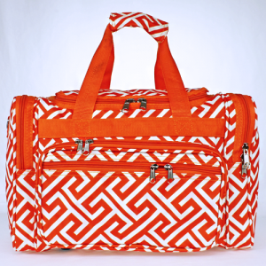 luggage t16 185 YH duffle bag greek key orange