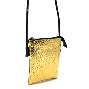 Toami TG10040 mini crossbody croc gold