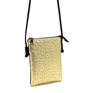 Toami TG10041 mini crossbody ostrich gold
