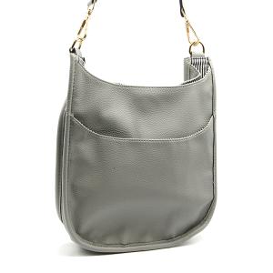 Toami TG10171 front pocket crossbody bag leatherette gray