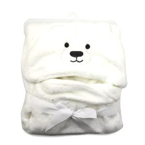 Hooded baby towel TW-1003 bear white