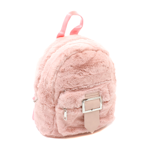 Unica UBP-9133 fashion fur backpack pink