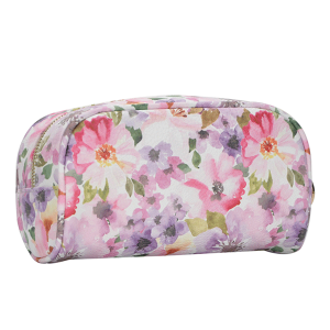 MMS WLW 2521 Trendy Makeup Bag Purple Flower