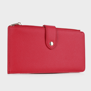 Isabelle WS1190 bifold vegan leather wallet red