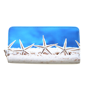 Bijorca WT377X146 zipper wallet starfish blue