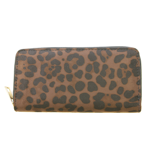 Bijorca WT377X212 zipper wallet leopard brown