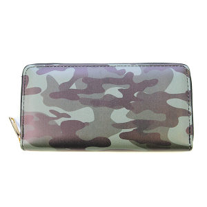 Bijorca WT377X223 zipper wallet camo green