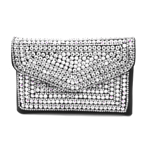 YB2102 crystal convertible crossbody fanny pack clear