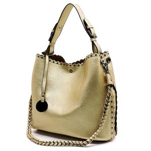 JM YS4125 Fashion Handbag PU Leather messenger wallet magnetic clasp closure rose gold