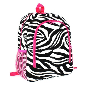 Luggage 6016 backpack zebra fuchsia