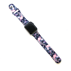 Watch Band 018c  38mm 40mm watch band flower floral rose