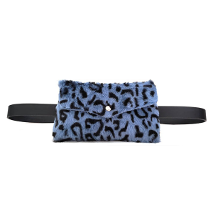 Belt Bag Mini leopard print soft blue