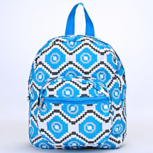 ak backpack NB5 18 geometric aztec light blue gray white