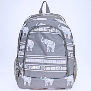 ak backpack NBN ELE GW boho elephant gray white