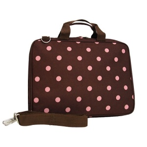 Luggage Computer Bag AK c18 10A polka dots brown pink