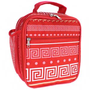 ak cc17 16 p long lunch box greek key red coral