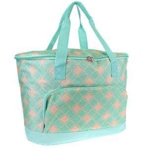 ak cc30 15 t0 large cooler bag quatrefoil coral mint