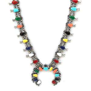 Necklace 311C 58 Tanie Stone Chained Necklace multi colored