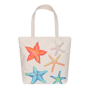 ODIVA AO8026 canvas tote starfish multi