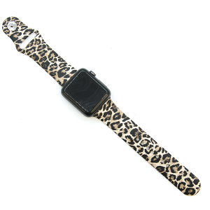 Watch Band 099a silicone rubber graphic watch band leopard 38mm - 40mm