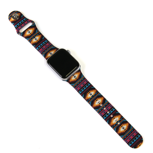 Watch Band 001d 08 38mm 40mm geo aztec multi