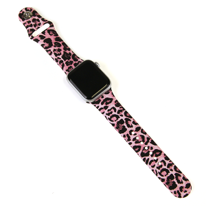 Watch Band 065a 08 38mm 40mm pink leopard