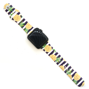 Watch Band 063 08 silicone rubber 38mm 40mm pineapple stripes