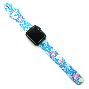 Watch Band 189 08 42mm 44mm Watch Band sea life ocean blue multicolor
