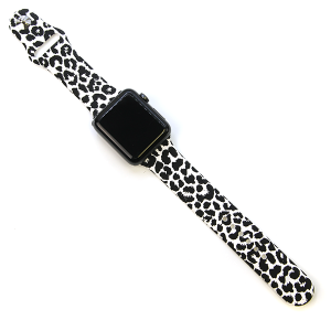 Watch Band 168 08 42mm 44mm Watch Band leopard white