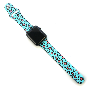 Watch Band 179 08 42mm 44mm Watch Band leopard turquoise