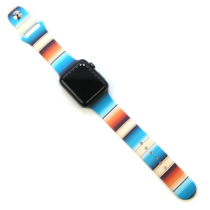 Watch Band 177 08 42mm 44mm Watch Band stripes turquoise beige