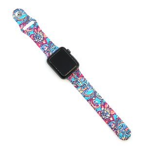 Watch Band 103 08 Rubber Silicone watch band 38mm 40mm floral multi