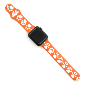 Watch Band 106 08 Rubber Silicone watch band 38mm 40mm dog paw orange