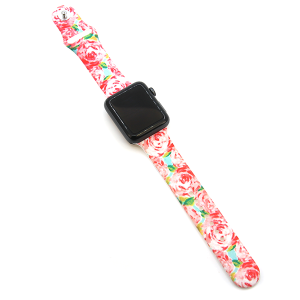 Watch Band 038 08 silicone rubber 38mm 40mm floral rose