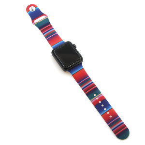 Watch Band 040 08 silicone rubber 38mm 40mm serape stripes