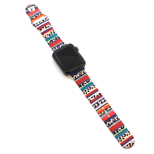 Watch Band 041 08 silicone rubber 38mm 40mm serape leopard