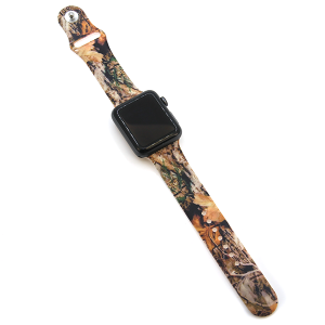 Watch Band 017a 08 silicone rubber 38mm 40mm wood forest