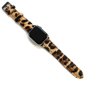 Watch Band 061a 08 Leather Watch Band leopard print