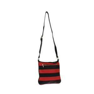 az q 3031 horizontal stripe messenger bag red black