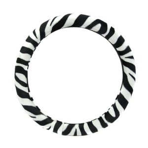 bd 902 zebra steering wheel cover black white