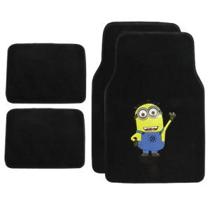 bd mnmt 1201 Minion carpet car floor mats black
