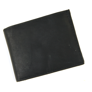 Simple Bifold Wallet Leather 3942 Black