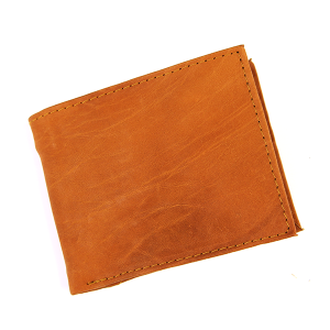 Simple Bifold Wallet Leather3942 Brown