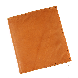 Simple Bifold Square Wallet Leather a55 Brown