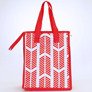 cc 18 22 lunch bag arrow coral white