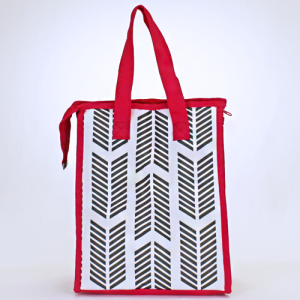 cc 18 22 lunch bag arrow gray white fuchsia