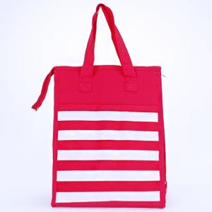 cc 18 23 lunch bag nautical stripe fuchsia white