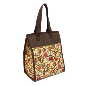 cc 18 501C lunch bag owl brown trim