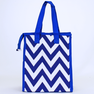 cc 18 601 lunch bag chevron royal blue white