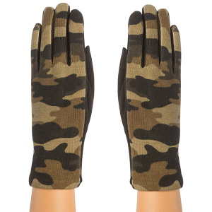 Glove 017a 08 Fadivo camo knit gloves green
